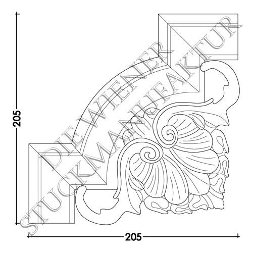 Ecke zu L0050-B 205/205mm