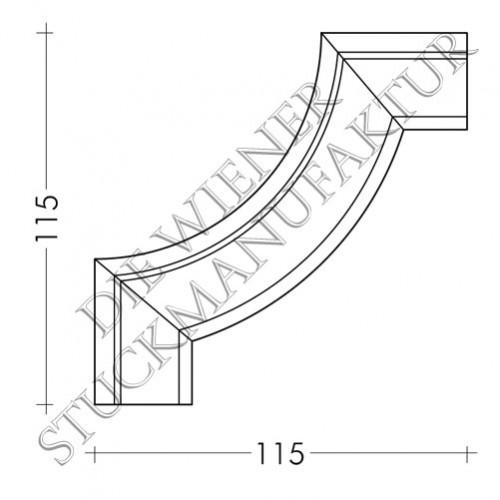 Ecke zu L0020-D 115/115mm
