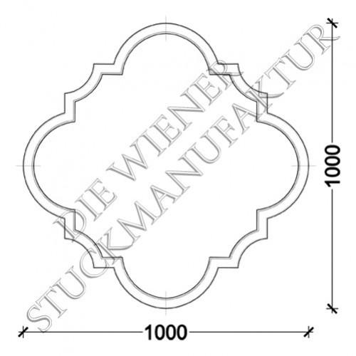 Deckenorn. L0068-B 1000/1000mm