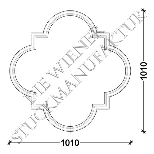 Deckenorn. L0134 1010/1010mm