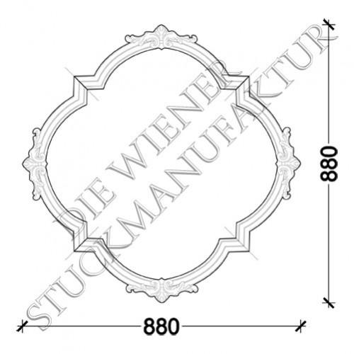 Deckenorn. L0004-F 880/880mm