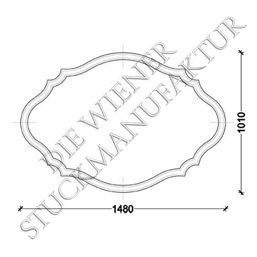 Ellipsend. L0038-C 1010/1480mm