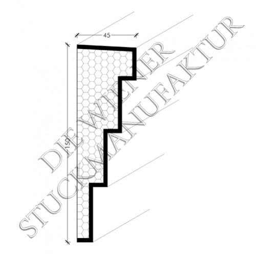 Fassadenprofil 150/45mm