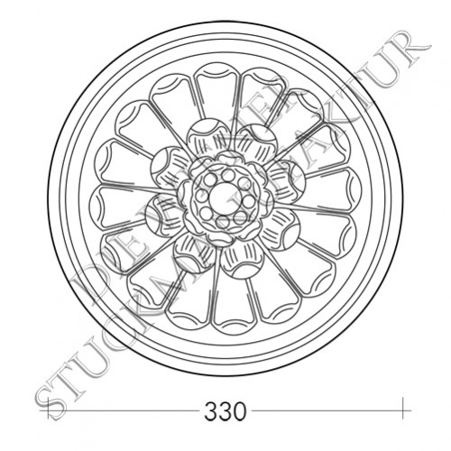 Rosette 330mm Blume