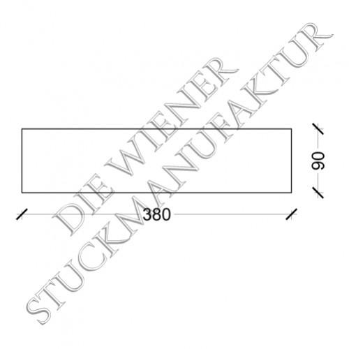 Sockelplatte halb 90/380mm