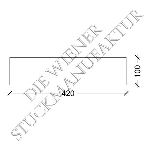 Sockelplatte halb  100/420mm