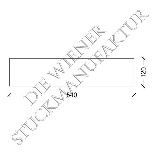 Sockelplatte halb 120/540mm