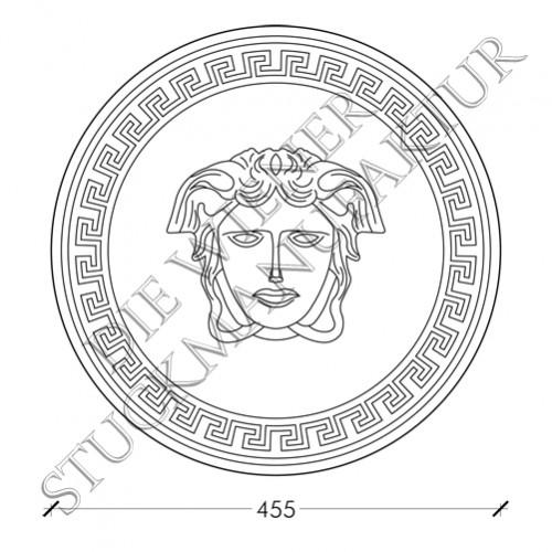 Medusa auf Rosette d=455mm