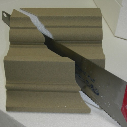 Gehrungsschnitt Fassade