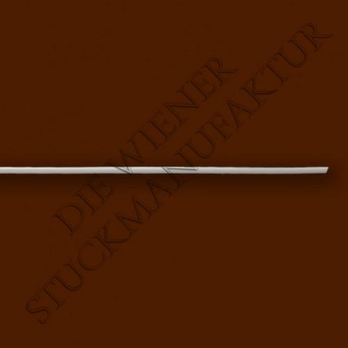 Leiste 10/10mm 1/4 Stab glatt