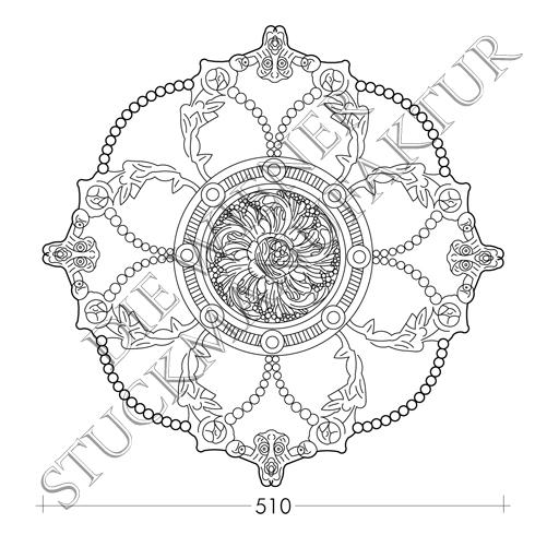 Rosette 510mm Perlenschnur