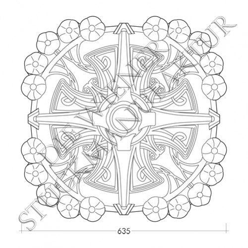 Rosette 635mm Jugendstil