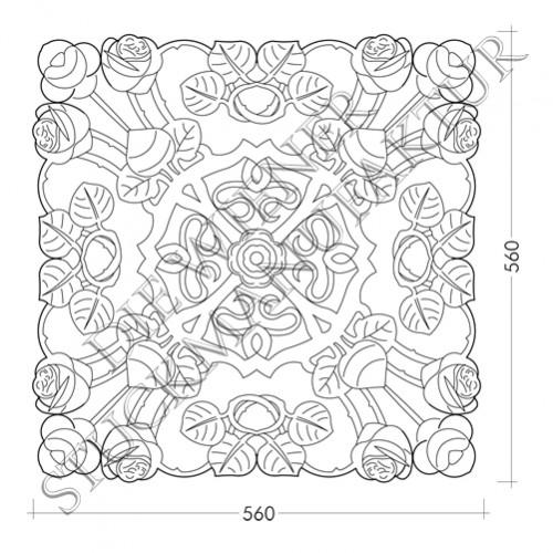 Rosette 560/560mm Jugendstil