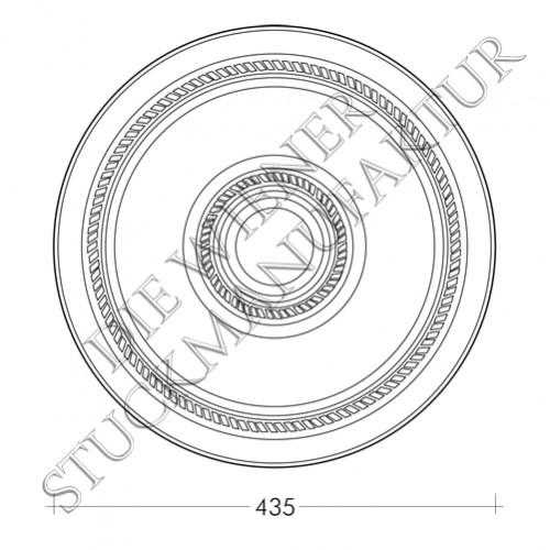 Rosette 435mm Schnur
