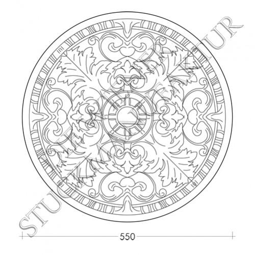 Rosette 550mm Akanthus
