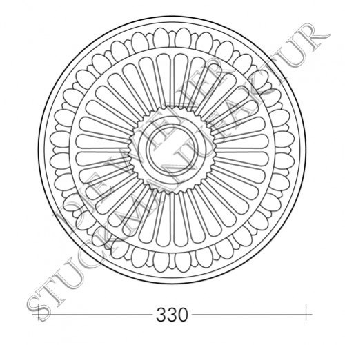 Rosette 330mm Perlenstab