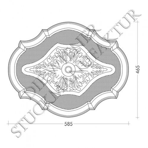 Rosette 465/585mm  Akanthus