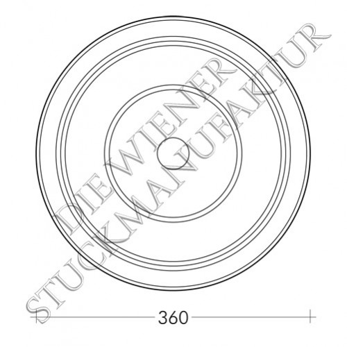 Rosette 360mm glatt