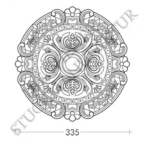 Rosette 335mm Bögen Blumen