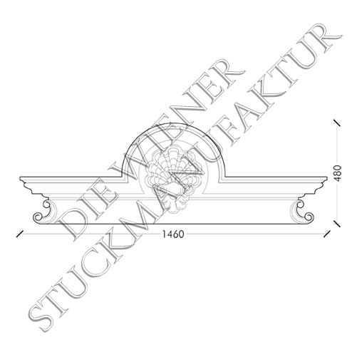 Sopraporte 480/1460/123mm