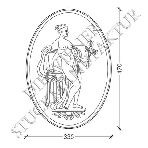 Römerin oval 470/335mm