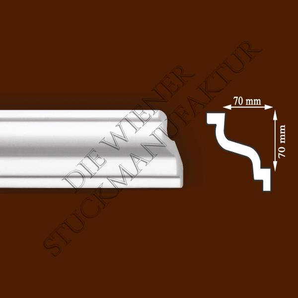 Leiste 70/70mm glatt