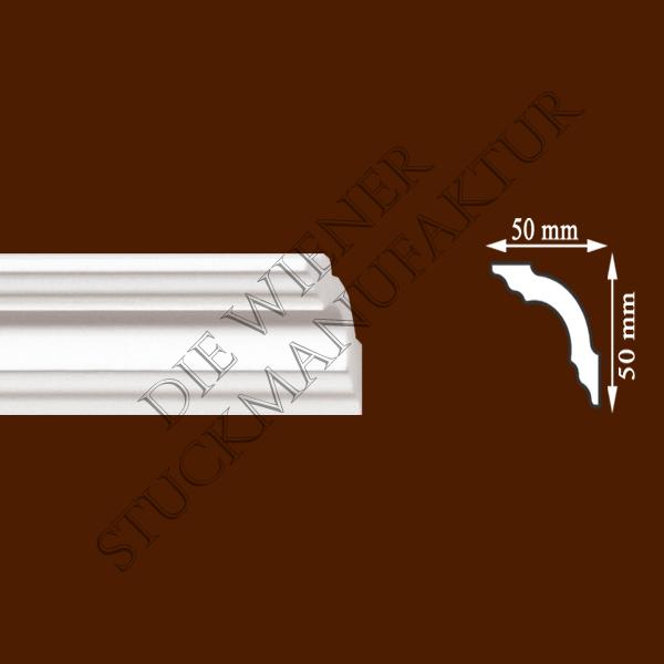 Leiste 50/50mm glatt