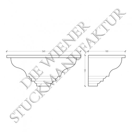 Wandschale offen 150/360/180mm